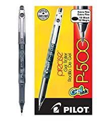 PEN GAME ON POINT: It doesn't matter if you're at school, at work, in the office or writing in your Bullet Journal at home, Pilot Precise P-500 Gel Ink Rolling Ball Pens are precise & comfortable to use & flow smoothly & evenly in blue, black or red ...