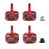 GARTT 4pcs Z 2205S 2300KV Brushless Motor CW/CCW Red 3-4S for FPV 210 250 300 Drones QAV Quadcopter