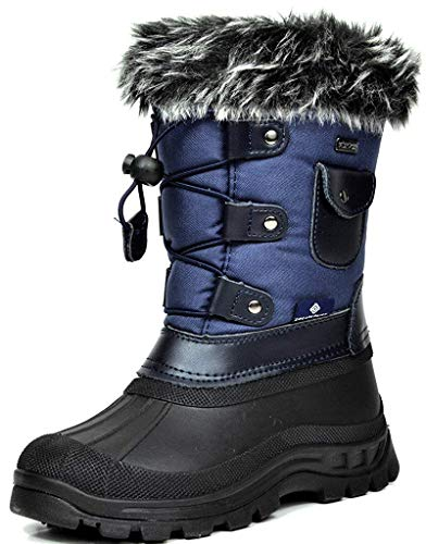 DREAM PAIRS Little Kid Ksnow Navy Isulated Waterproof Snow Boots - 3 M US Little Kid