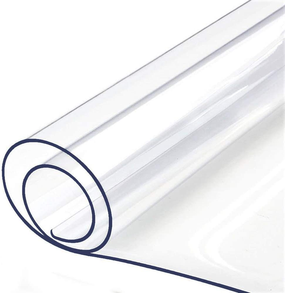 Clear Plastic メイルオーダー Tablecloth Protector Thick Tabl PVC Vinyl 新発売 Wipeable