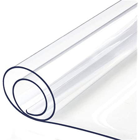 """Multi-Size Table Protector Tablecloth Protector Clear Plastic Tablecloth Waterproof Wipeable Vinyl Tablecloth PVC for Rectangle Dining Tables Mat Desk Pad Furniture Protector 24"""" 36 Inch 60 X 91CM"""