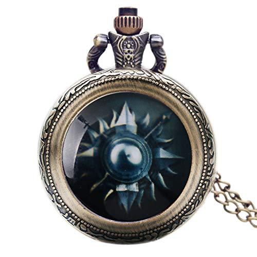 Gedenkmünze Taschenuhr, American Drama Game of Thrones Haus Martel Thema Glas Dome Taschenuhr für Herren, Lovely Taschenuhr Geschenk