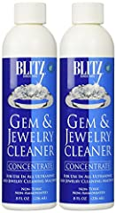 Includes two 8 ounce containers of gem and jewelry concentrate Scent free formula Great for use in sonic and ultrasonic cleaning machines Non-toxic and environmentally friendly Made in the USA
