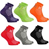 [page_title]-6 Paar bunte Anti-Rutsch-Socken mit ABS-System,ideal für solche Sportarten,wie Joga,Fitness Pilates Kampfkunst Tanz Gymnastik Trampolinspringen.Größen von 42 bis 43, atmende Baumwolle