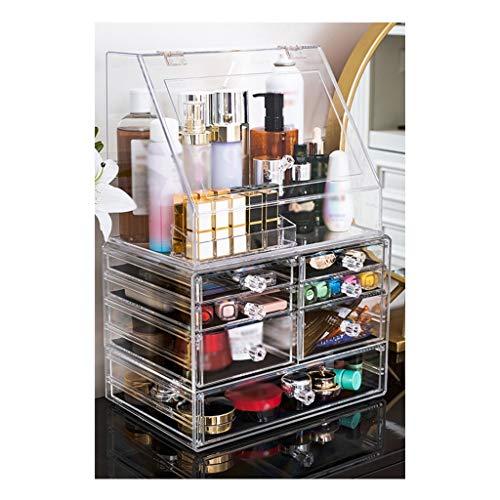 MY LOVE Quatre Types d'espace Libre d'accessoires de Maquillage Maquillage augmentent la capacité, boîte de Stockage de cosmétiques avec des tiroirs (Taille : D)