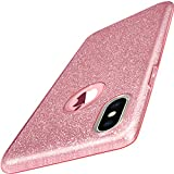 TOZO for iPhone X Case, Shiny [Bling Crystal] Thin Glitter Sparkle [Support...