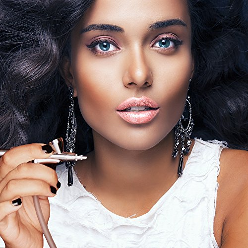 Dinair Airbrush Makeup Foundation   Golden Tan   GLAMOUR: Natural, Light coverage, Matte 1.15 oz.