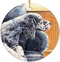 Michael Steddum English Setter Couch Potato Christmas Ornament