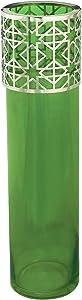 Noon Art Handmade Pattern Vase - Green Silver , 2725608689607