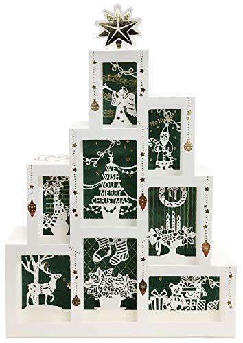 サンリオ(SANRIO) クリスマスカード レーザーカットボックスツリー JX 81-0 S 6181