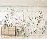 Moderne wohnzimmer gemälde poster Bunte Sakura Oriental Kirschblüte Blume Wandbild Fototapete wanddekoration Handgemalte Blum Tapete 3d wandbild tapeten vintage Moderne Hintergrundbild-150cm×105cm