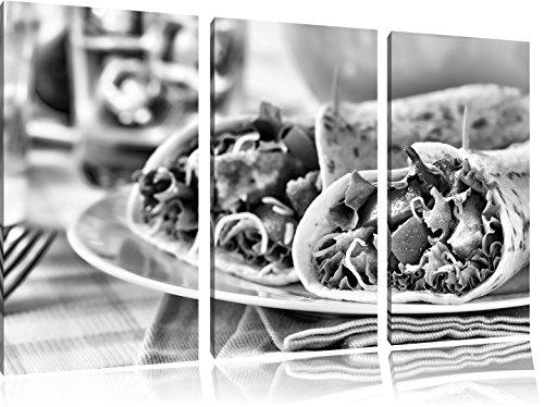 Super Fresh WrapsFoto Canvas 3 deel | Maat: 120x80 cm | Wanddecoraties | Kunstdruk | Volledig gemonteerd