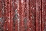 Peint Rouge Vieux Fond de Planche de Bois Rustique Vinyle Photographie Fond Ongles Marques Grunge patiné Vertical rayé Mur en Bois décors Planche de Bois Planche Artistique artistique-7x5FT