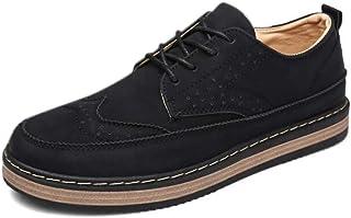 Kasonj Rétro Style Britannique Chaussures en Cuir d'affaires Loisir Semelle en Caoutchouc Résistant à l'usure Respirant Ap...