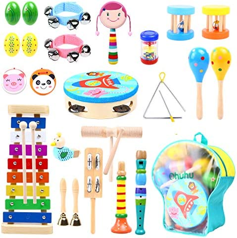 Music Instruments for Kids 30 Pcs Ohuhu Music Toys Kid Musical Instrument Set for Child with product image
