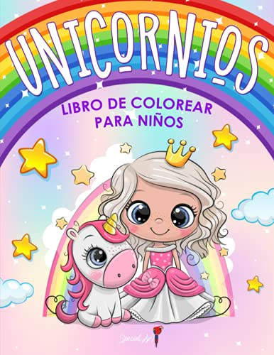Unicornios - Libro de Colorear para Niños: Más de 50 páginas para colorear con hermosos y cariñosos Unicornios! (Regalos para niños, tamaño grande)