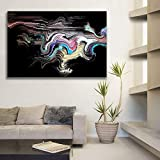 RTCKF HD Print Waterproof Canvas Oil Paintings Abstract Colors Wall Posters Home Decor Pictures for Living Room 50x70CM (Frameless)