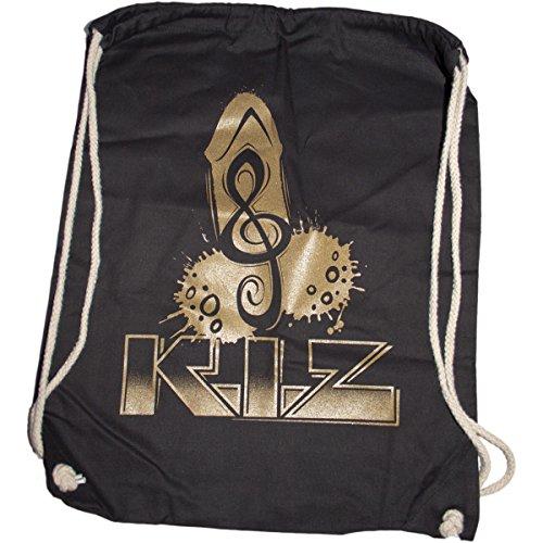 K.I.Z. Puller Gold Turnbeutel Schwarz 41cm x 37cm