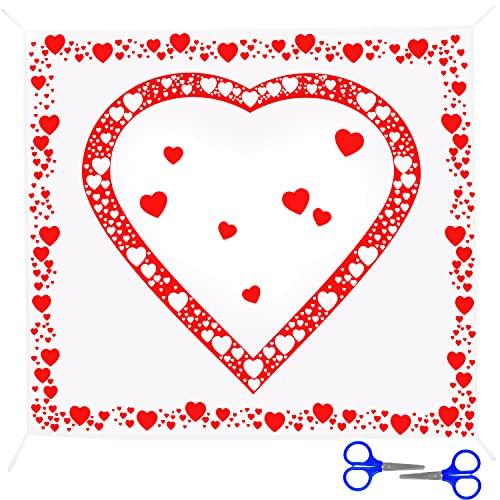 BELLE VOUS Sábana con Corazón para Recortar 2 x 1,8 m -...