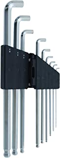 SK11 ショートヘッド六角棒レンチセット ミリサイズ 9本組 傾斜角度 約25度 エキストラロング SLSW09EL