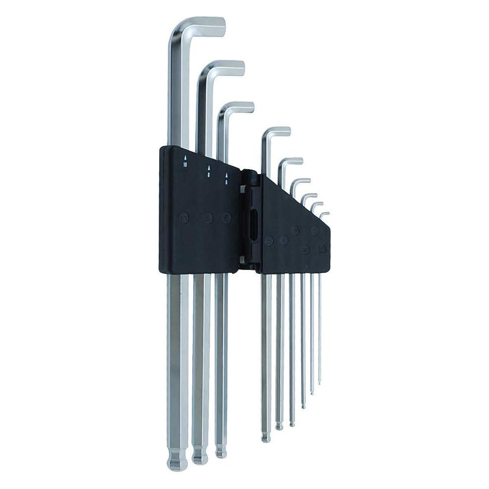 想像力豊かなかわすエアコンSK11 ショートヘッド六角棒レンチセット ミリサイズ 9本組 傾斜角度 約25度 エキストラロング SLSW09EL