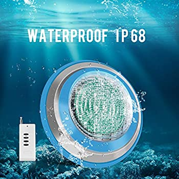 Roleadro Waterproof IP68 47W RGB 16ft Cord Swimming Pool Lights