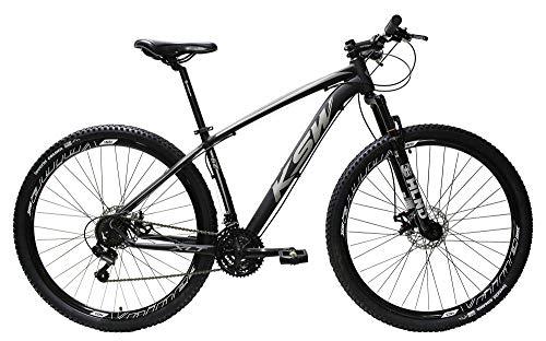 Bicicleta Aro 29 Ksw Aluminio Cambios Shimano 21 Marchas (Preto Fosco/Prata, 15)