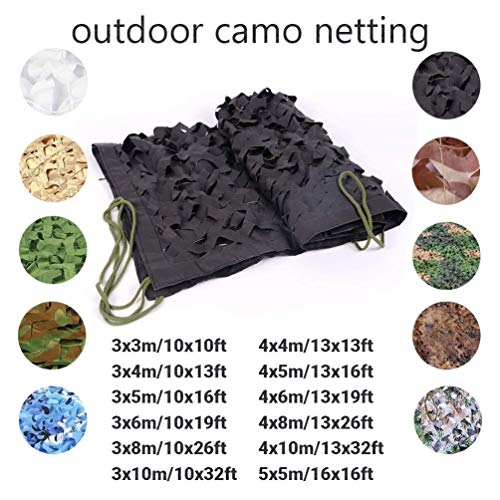 4 * 8M/13 * 26ft Large Lightweight Hunting Blind Camouflage Net Sun UV Shelter Tents For Beach Camping Hiking Hunting Blind Camouflage Net (Color : -, Size : 3x3m/10x10ft)