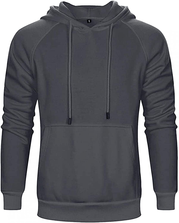 Hoodies for Men Mens Athletic Hoodies Pullover Fashion Solid Pocket Sweatshirt for Men Mens Hoodies with Zipper