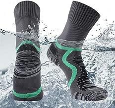 SuMade Unisex 100% Waterproof Hiking Socks, Stylish Cushioned Breathable Dry Fit Cool Athletic Skiing Cycling Trekking Running Neoprene Crew Socks 1 Pair (Gray, Medium)