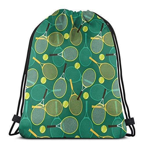Lmtt Sacs à cordon sacs de tennis raquette sac à dos tirer ficelle sacs en vrac stockage de sport gymnase pour femmes épaule Camping pique-nique sac à dos comme image