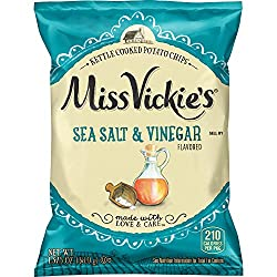 Miss Vickie's Sea Salt & Vinegar Flavored Kettle Cooked Potato Chips, 1.375 Ounce Bags (Pack of 64)