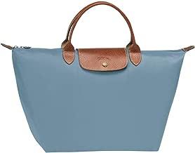 Longchamp Women's Le Pliage Artico Light Blue Top Handle Tote Nylon Leather