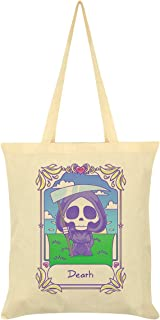 Deadly Tarot Kawaii Death Tote Bag Cream 38x42cm