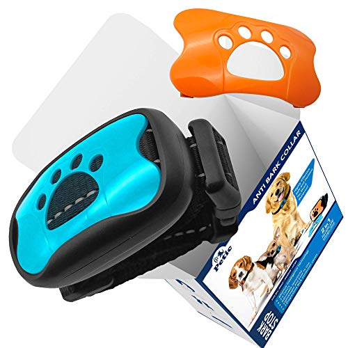 Petic Dog Anti Bark Collar for Small Large Dogs No Shock Barking Collars Anti Barking Device Training Dog Barking Collar Stop Barking Deterrent Device No Bark Collar 7 Adjustable Levels Bark Collars