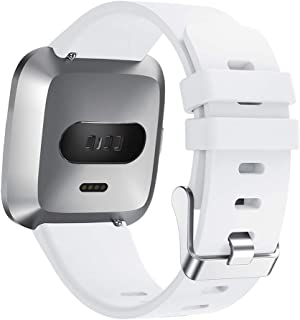 """Tonsee Compatible with Fitbit Versa Lite,Soft Silicone Strap Replacement Band Wristband,Adjustable Watch Belt Fit 4.97""""-7.68"""" Easy to Install"""
