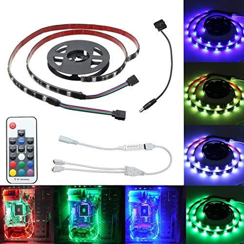 Módulo electrónico 2PCS 50CM 5050 SMD 17 Teclas de Control Remoto DIRIGIÓ Franja de iluminación para la decoración del hogar.