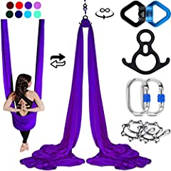 COMPLETE AERIAL SILKS SET, GREAT FOR ALL AERIALISTS BEGINNERS TO ADVANCED - Everything you need in one convenient package. Easy to set up anywhere you like. These silks are perfect for your home, outdoors, or in the studio. Quality equipment suitable...