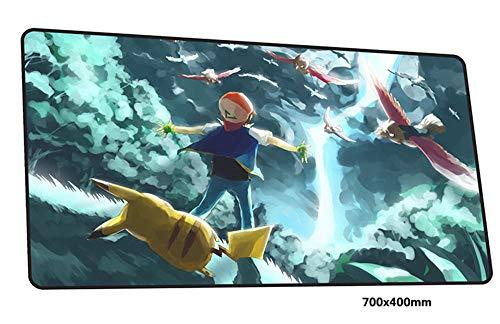 Muispads Anime Muismat, bureaumat, muismat, gamespeler, persoonlijkheid muismat voor laptop toetsenbord 700X400X2Mm, E