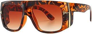 BAN SHUI JU MINSU GUANLI - BAN SHUI JU MINSU GUANLI Gafas de Sol Modernas Retro Big Box Punk Gafas de Sol Multicolores Juventud Y Elegancia (Color : C2Leopard Double Tea)