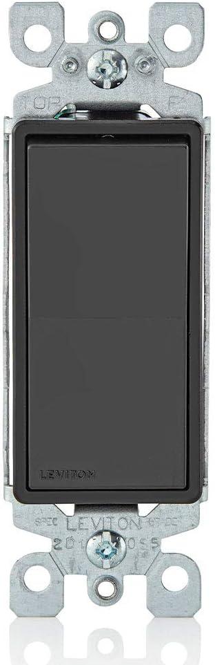 Leviton  Decora  15 amps Toggle  Switch  White  1 pk