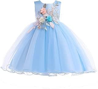 AIMJCHLD 2-10T Kids Flower Girl Dress Teen Girls Pageant Party Communion Dresses