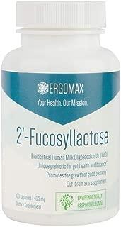 Ergomax - 2'-Fucosyllactose (2'-FL) - Bio-Identical Human Milk Oligosaccharide (HMO) - Prebiotic - 100 Capsules