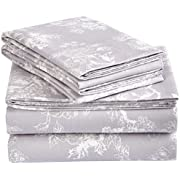 Amazon Brand – Pinzon Cotton Flannel Bedding Bed Sheet and Pillowcase Collection