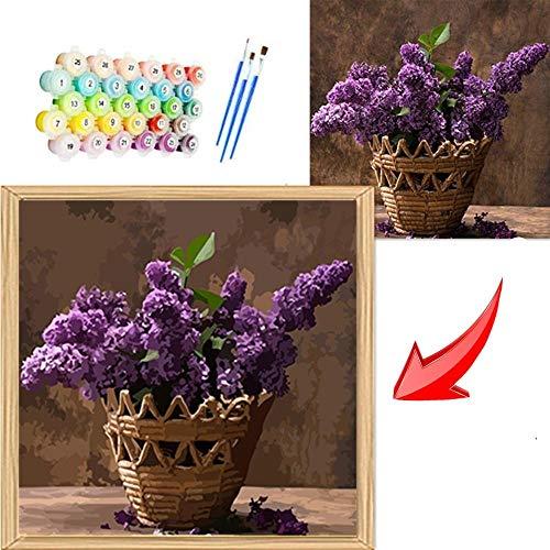 mnbhj Personalisierte Foto Benutzerdefinierte Farbe Malen Nach Zahlen , Passen Sie Ihre Fotos an, Kunstwerk Zuhause Einzigartig Dekoration Geschenk,Mit Pinsel und Farbe(40*50CM,Mit Rahmen)