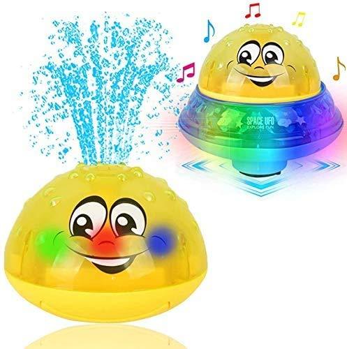 Schwimmende Babyprodukte FüR Babys, 2in1 Induktion Spray Wasserprodukte & Weltraum UFO-Produkte mit LED-Licht Musical, Babyprodukte Badewanne Produkte für Kleinkinder Kinder