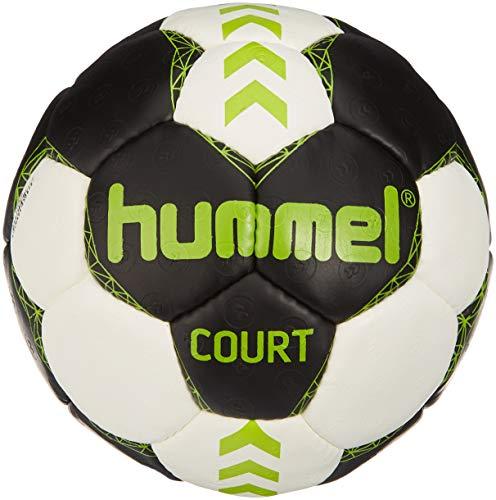 Hummel Erwachsene Court Handball, Asphalt/Green Lime, 2