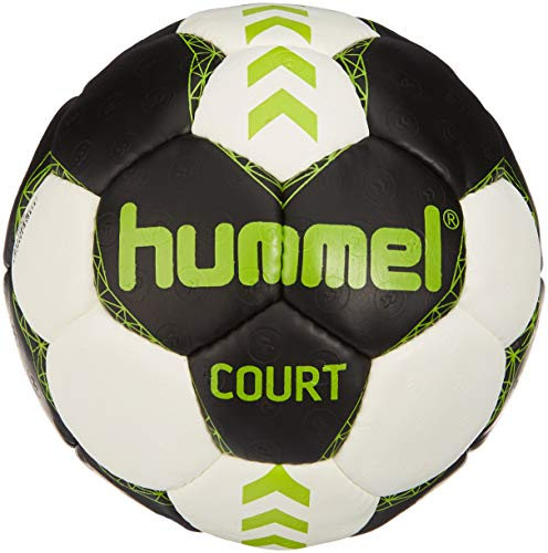 hummel Erwachsene Court Handball, Asphalt/Green Lime, 3