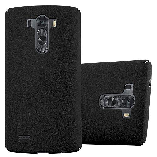 Cadorabo Hülle für LG G3 - Hülle in Frosty SCHWARZ – Hardcase Handyhülle im matten Frosty Design - Schutzhülle Bumper Back Case Cover
