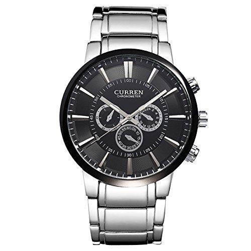 Moda para Hombre Reloj Negro Reloj Business Casual Reloj muñeca Relojes para Hombres